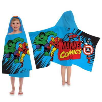 "Disney® Marvel Heroes ""Super Heroes"" Cape-Style Hooded Towel"