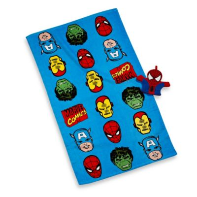 "Disney® Marvel Heroes ""Super Heroes"" Bath Towel and Wash Mitt Set"