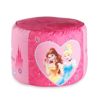 Disney® Princess Tiara Printed Pouf