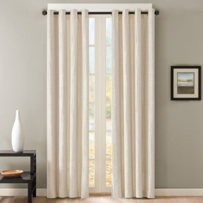 Skyline Grommet 63-Inch Window Curtain Panel in Silver
