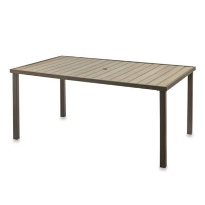 Resin Wood Rectangular Dining Table