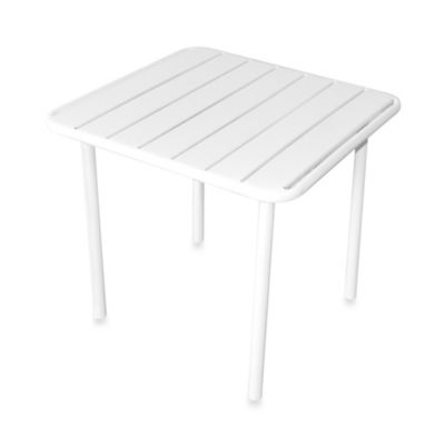 Metal Slat Kiddie Table in White