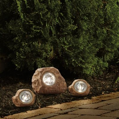 Solar Rock Landscaping Lights (Set of 3)