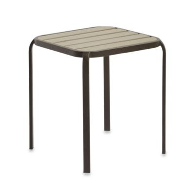 Resin Wood Accent Table in Bronze