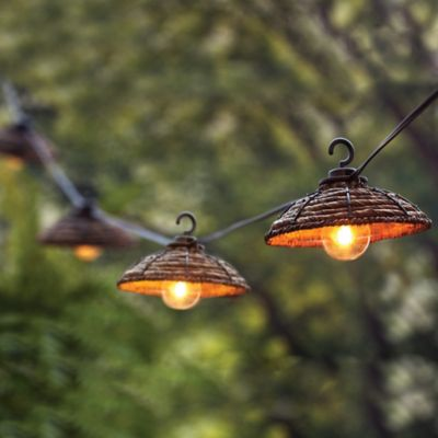 Decorative Banana Leaf Light String (Set of 8)