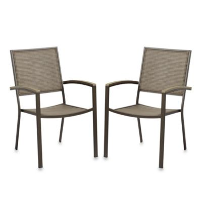 Resin Wood Dining Chairs (Set of 2)