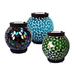 Solar Mosaic Table Top Lantern