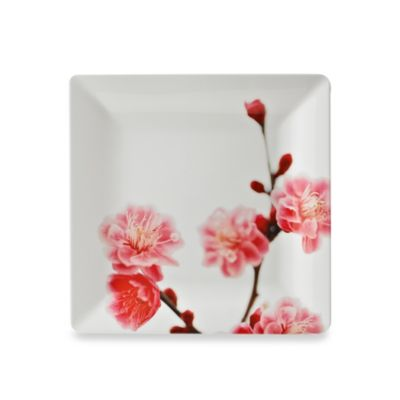 Cherry Blossom Photoreal Square 10.7-Inch Dinner Plate