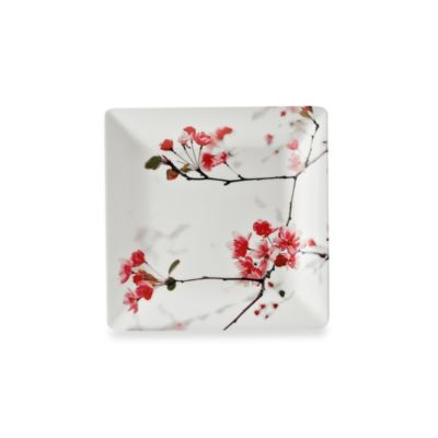 Cherry Blossom Photoreal Square 8.5-Inch Salad Plate