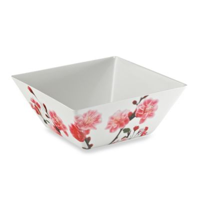 Cherry Blossom Photoreal Square 10.2-Inch Large Bowl