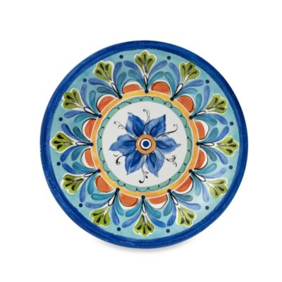 Azul Hand Painted 10.5-Inch Round Dinner Plate