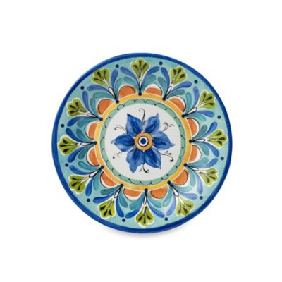 Azul Hand Painted 8.4-Inch Round Salad Plate