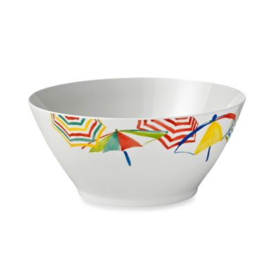 Stripes on the Strand 11-Inch Umbrella Serving Bowl