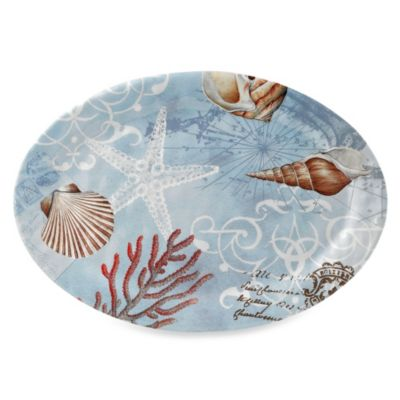 Tramore Bay Oval 20-Inch Melamine Serving Platter