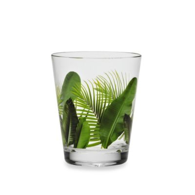 Poolside Palms Acrylic 15 1/2-Ounce Double Old Fashioned