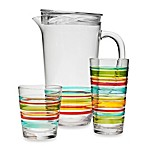 Riviera 3D Multi Stripe Acrylic Drinkware Collection