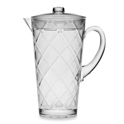 Acrylic Diamond 75-Ounce Glass Pitcher