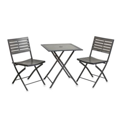 Resin Wood 3-Piece Bistro Set