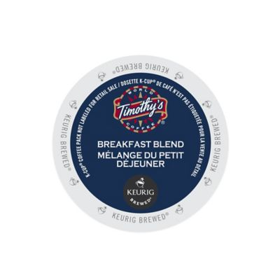 K-Cup® 18-Count Timothy's® Breakfast Blend Light Roast Coffee for Keurig® Brewers