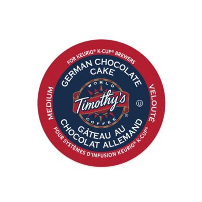 K-Cup® 18-Count Timothy's® German Chocolate Cake Coffee for Keurig® Brewers