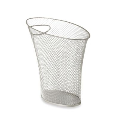 Umbra Skinny Mesh Trash Can in Nickel