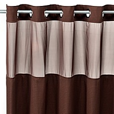 Hookless® Waffle 71-Inch x 86-Inch Long Fabric Shower Curtain and Liner Set in Chocolate