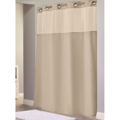 Hookless® Waffle Taupe 54-Inch x 80-Inch Fabric Shower Curtain and Liner Set
