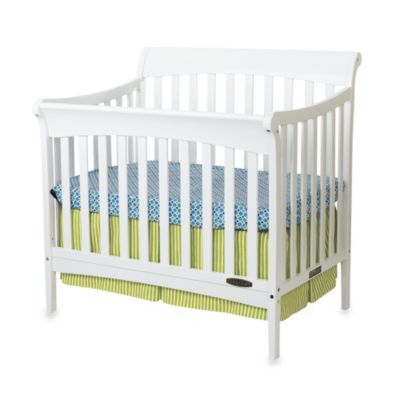 Child Craft™ Coventry Mini 4-in-1 Covertible Sleigh Crib in White