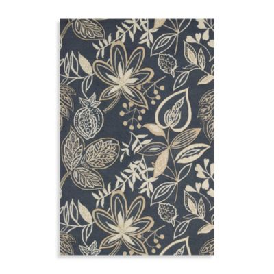 Nourison Fantasy 2-Foot 6-Inch x 4-Foot Area Rug in Smoke