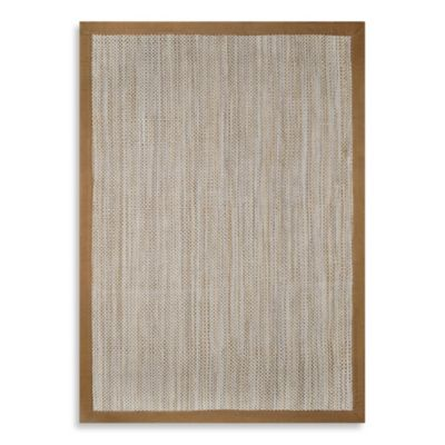 Bartlett Woven Natural Fiber Look 2-Foot x 3-Foot Indoor/Outdoor Rug in Sahara Brown/Taupe