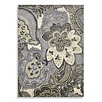 Beaujolais Wool/Chenille Hand-Tufted Paisley Rug in Milano Almond