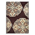 Robinet Wool/Viscose Hand-Tufted Medallion Rug in Mercer Chocolate
