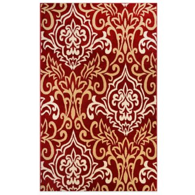 Westwood 1-Foot 6-Inch x 2-Foot 6-Inch Damask Accent Rug in Red