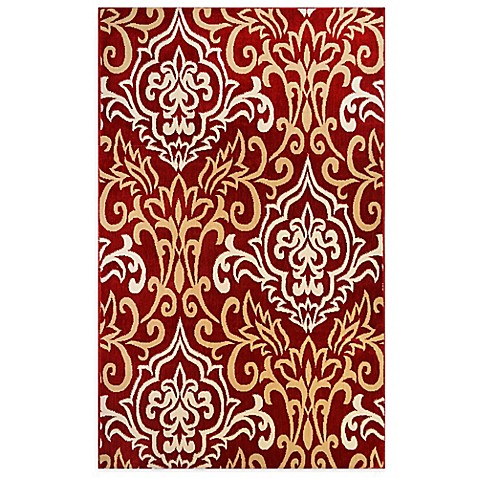 Westwood Damask Accent Rug In Red Bed Bath Amp Beyond