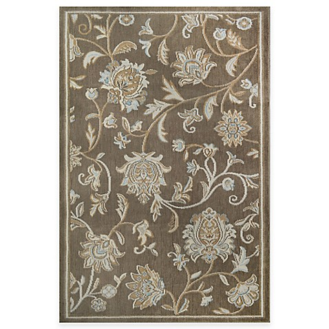 Westwood Floral Accent Rug In Taupe Bed Bath Amp Beyond