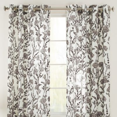 Bethany Grommet 108-Inch Window Curtain Panel in Citron
