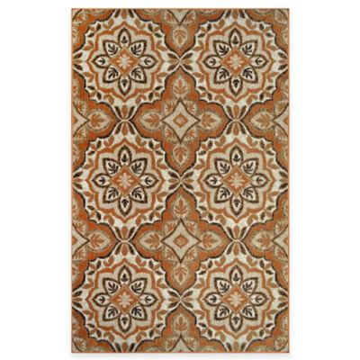 Westwood 1-Foot 6-Inch x 2-Foot 6-Inch Medallion Accent Rug in Rust