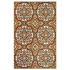 Westwood Medallion Accent Rug in Rust