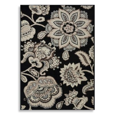 Floral Machine Washable Rugs