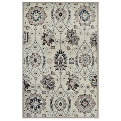 Westwood 1-Foot 6-Inch x 2-Foot x 6-Inch Traditional Floral Accent Rug in Ivory