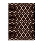 Orian Williams Fret Rug in Brown