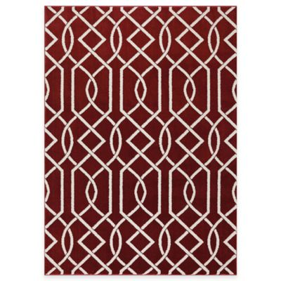 Mohawk Home Irongate 6-Foot x 9-Foot Rug in Ruby