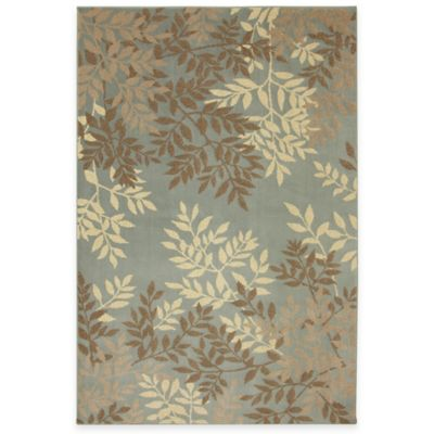 Brown Botanical Rug