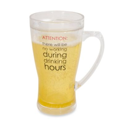 Frosty Attention 14-Ounce Beer Mug