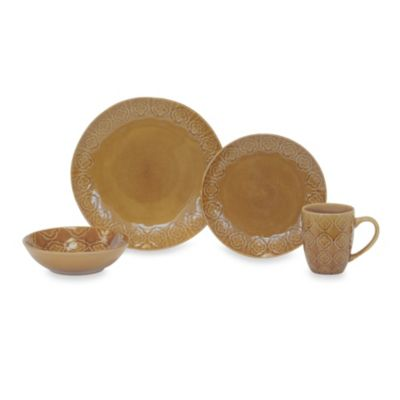 Baum Andaluz 16-Piece Dinnerware Set in Amber