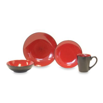 Baum Simplicity 16-Piece Dinnerware Set in Red