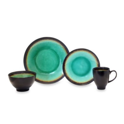 Baum Galaxy Coupe 16-Piece Dinnerware Set in Jade