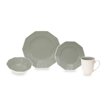 Baum Prisma 16-Piece Dinnerware Set in Grey