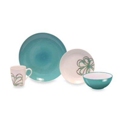 Baum Zen Garden 16-Piece Dinnerware Set in Green