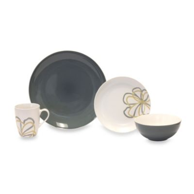 Baum Zen Garden 16-Piece Place Setting in Grey